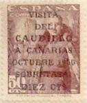 Sellos de Europa - España -  +10 céntimos sobre 50 céntimos 1951