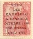 Sellos de Europa - España -  + 10 céntimos sobre 1 peseta 1951