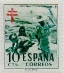 Sellos de Europa - España -  10 céntimos 1951