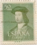 Stamps Spain -  50 céntimos 1952