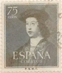 Stamps Spain -  75 céntimos 1952