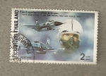 Stamps Asia - Thailand -  75 Aniversario Fuerza Aerea Siam