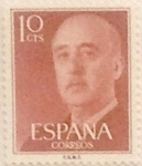 Stamps Spain -  10 céntimos 1955