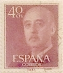 Stamps Spain -  40 céntimos 1955