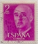Stamps Spain -  2 pesetas 1955