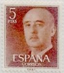 Stamps : Europe : Spain :  5 pesetas 1955
