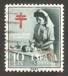 Stamps Spain -  1122 - Pro Tuberculosos