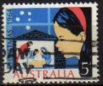 Sellos del Mundo : Oceania : Australia : AUSTRALIA 1964 Michel 348 Yvert307 SELLO CHRISTMAS NAVIDAD USADO