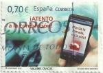 Stamps of the world : Spain :  VALORES CÍVICOS. ATENTO A LA CONDUCCIÓN. EDIFIL 4698