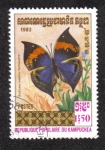 Stamps Cambodia -  Kallima Inachus Formosana