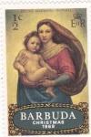 Sellos de America - Antigua y Barbuda -  Chrismas-69 La Virgen (Rafael)