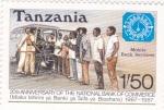 Stamps Tanzania -  20 Aniversario del Banco Nacional de Comercio