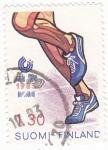 Stamps Finland -  Ilustración carrera atletismo