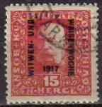 Stamps Europe - Bosnia Herzegovina -  BOSNIA HERZEGOVINA 1917 SCOTT B12 SELLO EMPERADOR FRANZ JOSEF SOBREIMPRESIONADO