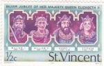 Stamps Saint Vincent and the Grenadines -  Monarquia inglesa