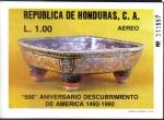 Sellos de America - Honduras -  500 Aniversario Descubrimiento de América 1492-1992