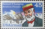 Stamps United States -  Intercambio jcxs 0,20 usd 45 centavos 1988