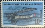 Sellos de America - Estados Unidos -  Intercambio 0,20 usd 10 centavos 1968