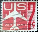 Stamps United States -  Intercambio 0,20 usd 7 centavos 1960