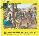 Stamps Bahrain -  Pinturas religiosas