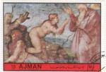 Stamps United Arab Emirates -  Michelangelo- La creación de Eva