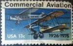 Stamps United States -  Intercambio 0,20 usd 13 centavos 1976