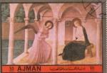Sellos de Asia - Emiratos Árabes Unidos -  Beato- Visitación del Angel a María