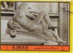 Sellos de Asia - Emiratos Árabes Unidos -  Michelangelo- escultura