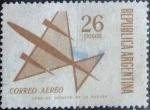 Stamps : America : Argentina :  Intercambio mal 0,20 usd 26 pesos 1971