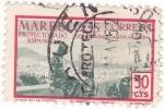 Stamps Morocco -  Protectorado español- moras en la azotea