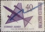 Stamps : America : Argentina :  Intercambio mal 0,30 usd 40 pesos 1969