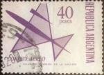 Sellos de America - Argentina -  Intercambio 0,30 usd 40 pesos 1969