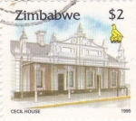 Stamps Zimbabwe -  Cecil house