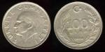 monedas del Mundo : Asia : Turquía :  100 Liras