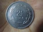 monedas del Mundo : Asia : Turquía :  2 1/2 Liras