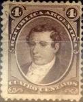 Stamps Argentina -  Intercambio 0,40 usd 4 centavos 1873