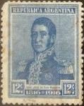 Sellos del Mundo : America : Argentina : Intercambio daxc 0,25 usd 12 centavos 1916