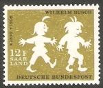Sellos de Europa - Alemania -  Saar - 411 - 50 anivº de la muerte del diseñador humorista Wilhelm Busch