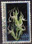 Stamps Africa - Burundi -  BURUNDI 1995 Michel 1814 SELLO FLORES HABENARIA ADOLPHI