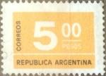 Sellos de America - Argentina -  Intercambio 0,20 usd 5 pesos 1976