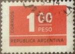 Stamps Argentina -  Intercambio 0,20 usd 1 peso 1976