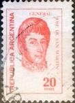 Stamps : America : Argentina :  Intercambio 0,20 usd 20 pesos 1977