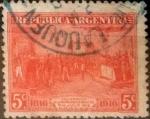 Sellos del Mundo : America : Argentina : Intercambio daxc 0,25 usd 5 centavos 1916