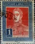 Sellos del Mundo : America : Argentina : Intercambio daxc 0,25 usd 1 peso 1923