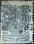 Stamps Argentina -  Intercambio 0,20 usd 5 centavos 1944