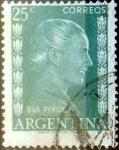 Sellos de America - Argentina -  Intercambio 0,20 usd 25 centavos 1952