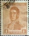 Sellos de America - Argentina -  Intercambio 0,25 usd 2 centavos 1917