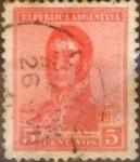 Sellos de America - Argentina -  Intercambio 0,25 usd 5 centavos 1917