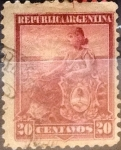 Sellos del Mundo : America : Argentina : Intercambio daxc 0,30 usd 20 centavos 1899