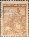 Sellos de America - Argentina -  Intercambio 0,30 usd 1/2 centavo 1899